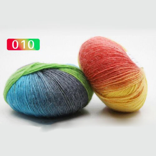 50g DIY Practical Craft Color Wool Blend Yarn Hand-woven Knitting Yarn