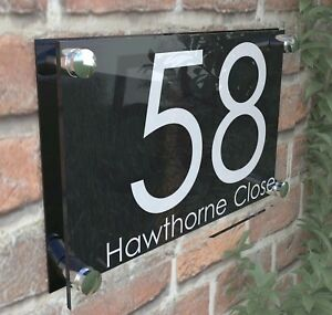 c321d6287801 Image is loading PERSPEX-HOUSE-SIGNS-PLAQUE-DOOR-NUMBERS -PERSONALISED-ACRYLIC