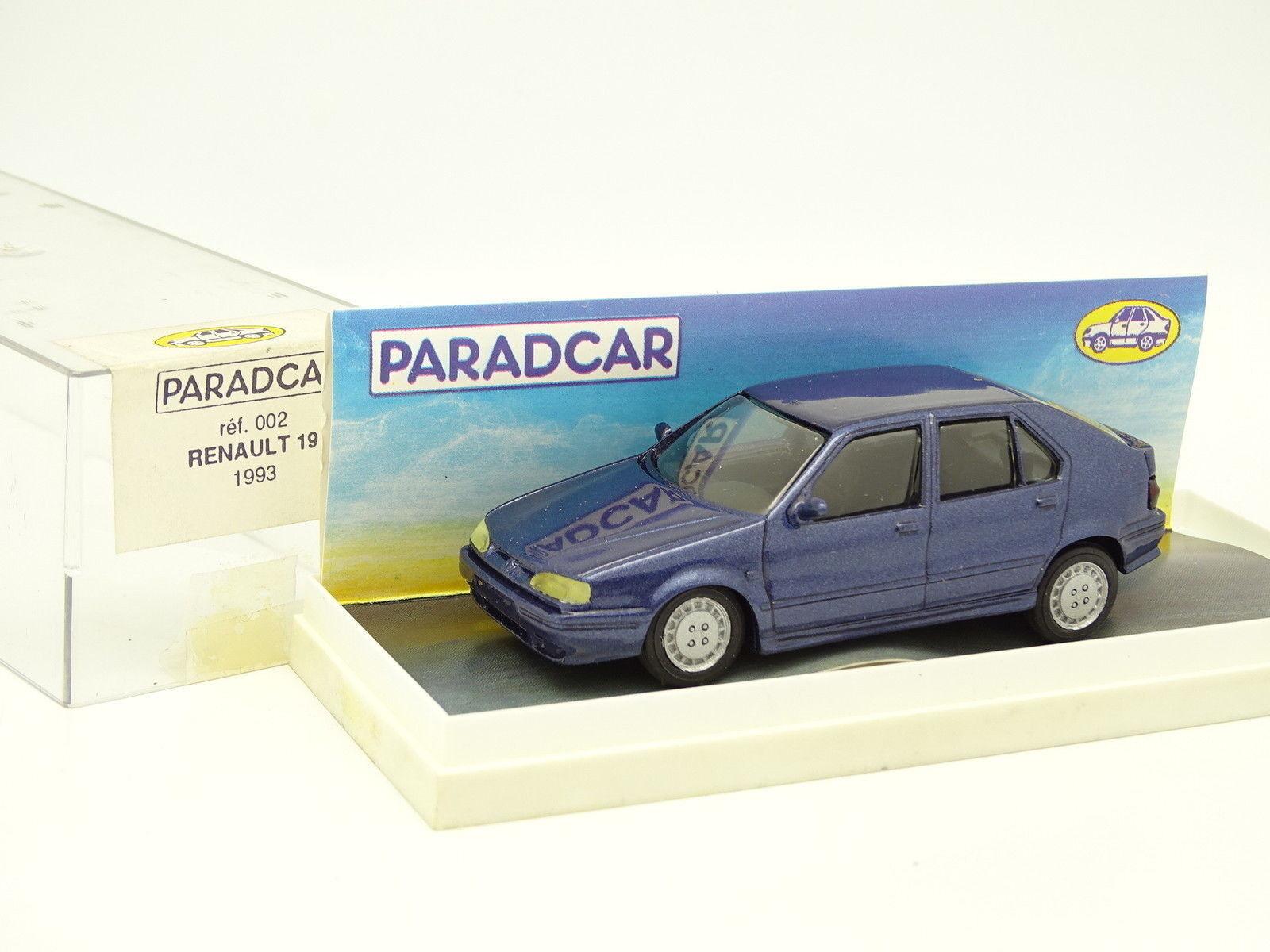 Paradcar resina 1   43 - renault 19 1993 Blau