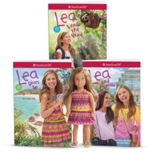 "NEW American Girl Limited Edition Lea 6/"" Mini Doll /& 3-Book Gift Bundle Set"