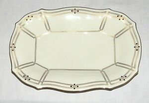 Lenox-Vanguard-Collection-12-5-x-8-5-inch-Oval-Serving-Dish-Bowl-with-Gold-Trim