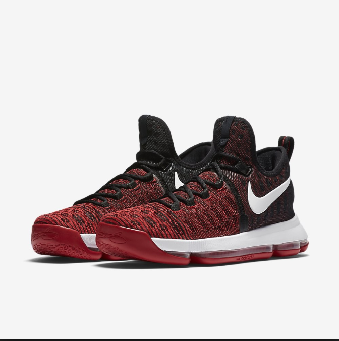 Nike Zoom KD 9 Basketball Mens Shoes University Red Red Red & Black 843392-610 Size10 56bec0