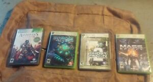 Lot 4 xbox 360 Great games bundle.Assassins Creed 2 .Bioshock 2 Mass effect