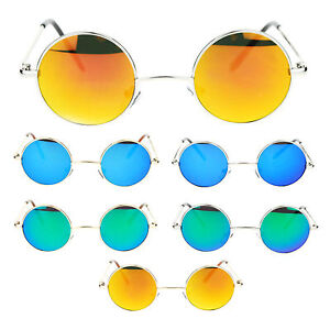 43cd706d10 Retro Extra Small Snug Fit Round Circle Color Lens 70s Groovy Hippie ...