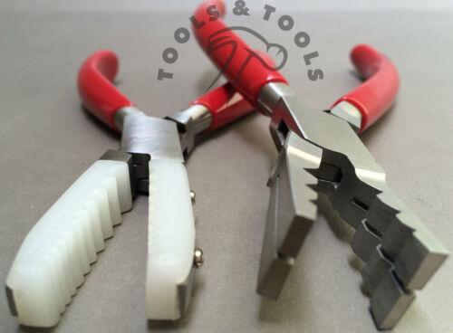 2 un alicates conjunto Nylon mandíbula Tubo Holding y Tubo de corte Joyería Artesanías Herramientas