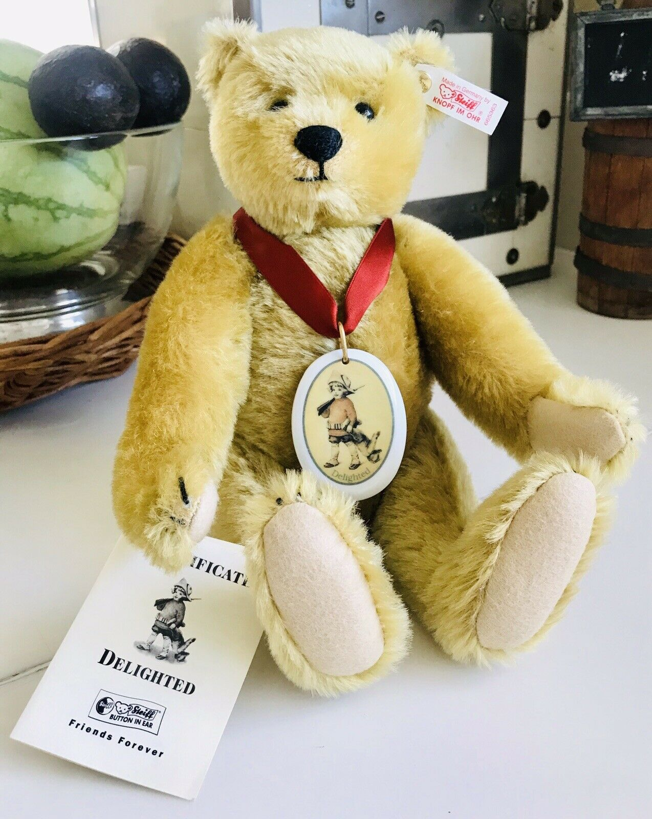 Steiff  Delighted  Golden Jointed Teddy Bear-665363 with tags  01797
