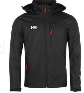Helly-Hansen-Promenade-Jacke-Herren-schwarz-Mantel-Groesse-UK-M-ref91
