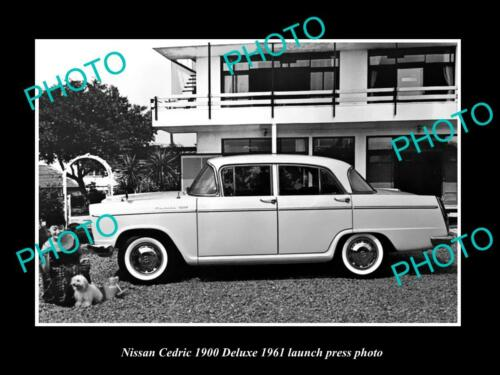 OLD 8x6 HISTORIC PHOTO OF 1961 NISSAN CEDRIC 1900 DELUXE LAUNCH PRESS PHOTO 1