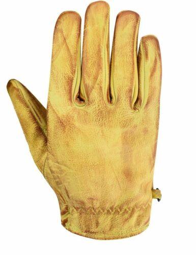 Motorradhandschuhe Vintage Sommer Handschuhe Vintage Retro Lackleder,W-BEIGE