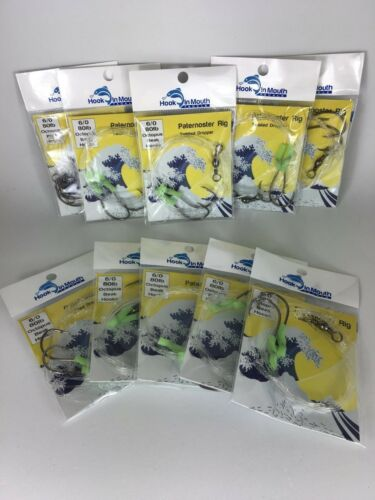 5 x Twisted Paternoster Fishing Rigs 80lb 6//0 Octopus Hook Snapper Snatcher Rig