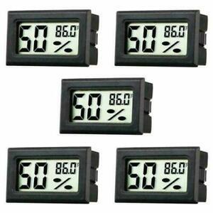 5Pcs/set Digital LCD Indoor Temperature Humidity Meter Thermometer Hygrometer