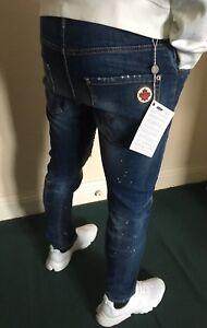 NEU-DSQUARED-2-Jeans-Slim-Weite-Passform-W-31-32-Italien-Groesse-46-l31
