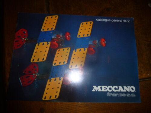 lot meccano    catalogue de vente meccano 1972 neuf