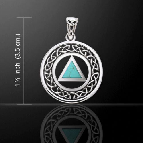 AA Recovery .925 Sterling Silver Pendant Choice of Gemstone by Peter Stone