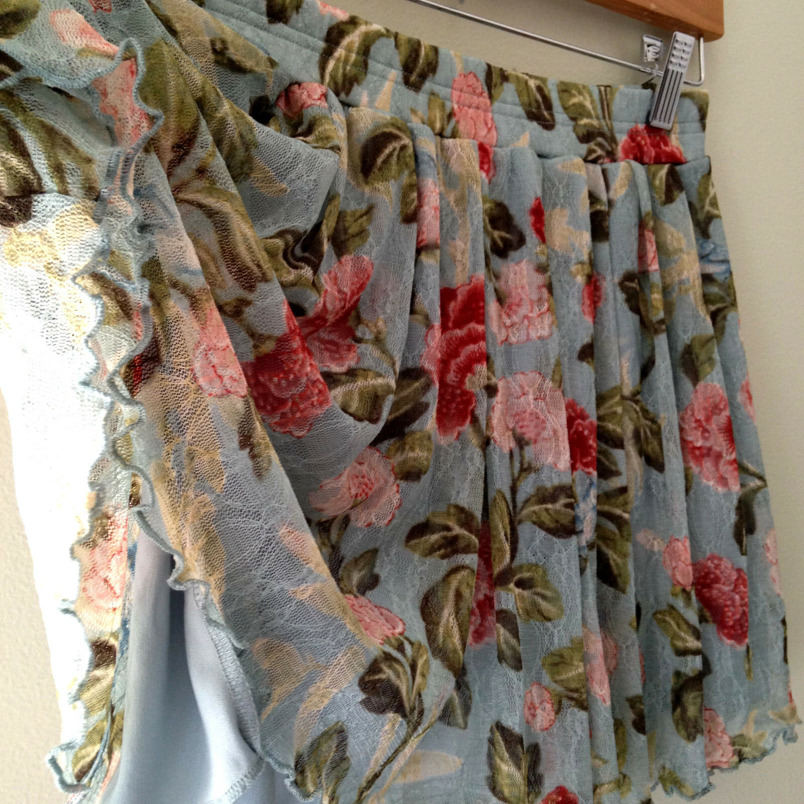 NWT Denim & Supply Ralph Lauren Beautiful Floral Lacey Swing Mini Skirt M  90