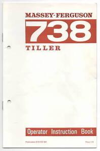 Agriculture/farming Business, Office & Industrial Original Massey Ferguson 738 Tiller Instruction Book 819022m1 Manual
