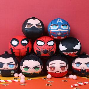 Marvel The Avengers Steve Bucky Ironman Loki Thor Soft Plush Toys Doll Keychain