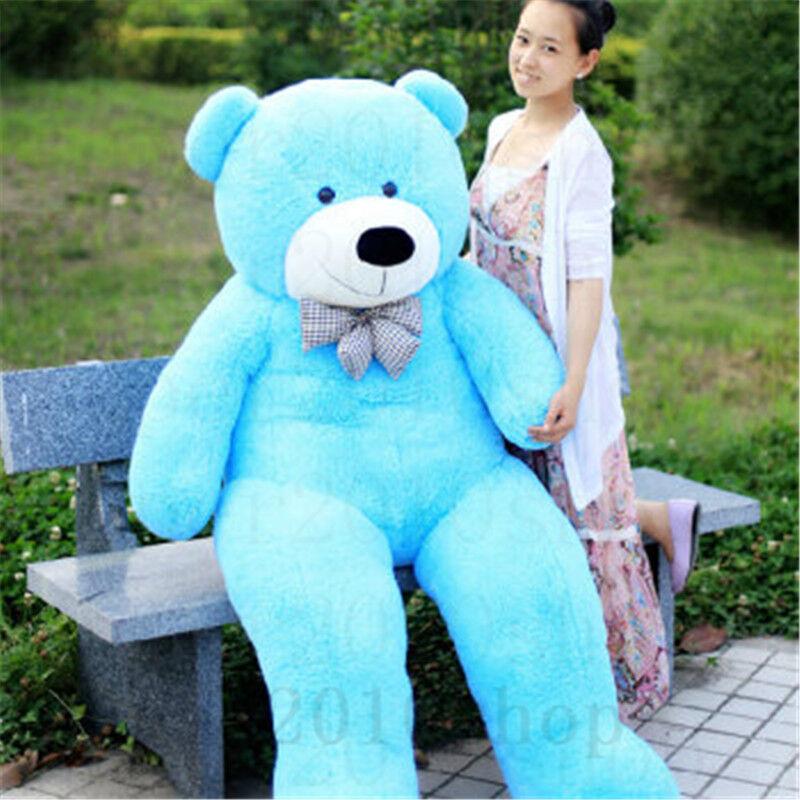 72'' Big Teddy Bear Stuffed Animal Plush Giant Soft Animal Toy Birthday Kid Gift