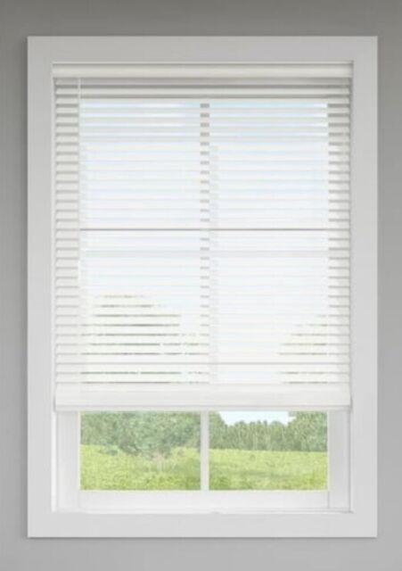 Levolor 2 Inch Faux Wood Plantation Blinds Corded White Choose Width 22 48 For Sale Online