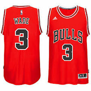 49aa9c8fe Chicago Bulls Youth Dwyane Wade  3 adidas Red New Swingman Road ...