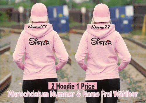 Sister Sister Hoodie Pullover Partner Look 2 Stück XS Bis 2XL Best Friends New