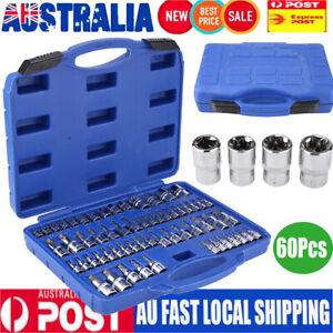 60Pcs-Male-Female-Torx-Star-Socket-amp-Bit-Set-E-amp-T-SocketsTorx-Bits-Tool-Kit