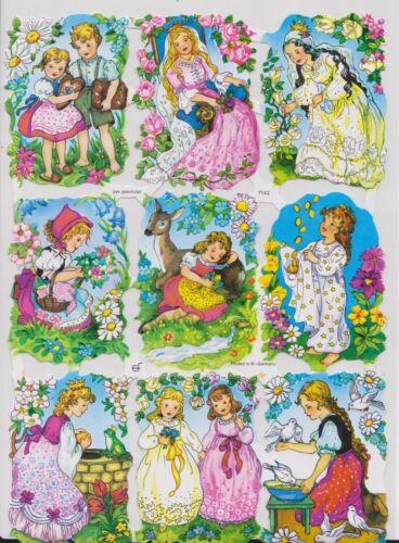 1 Bogen Glanzbilder Poesie Märchen Hänsel und Gretel Sternentaler ef 7142 Nr.188