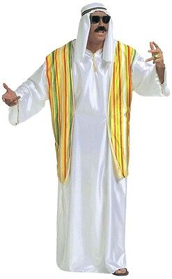 Deluxe Arab Arabian Sheik Sultan Lawrence Arabia Men/'s Fancy Dress Costume XL