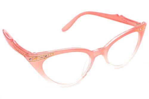 Cat Eye Retro Eyeglasses Stone Color Frame Clear Lens Women Fashion Glasses