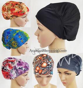 100% Vrai Nouveau Cristal Chanvre Muslim Inner Hijab Caps Islamique Underscarf Chapeaux Ninja Hija-afficher Le Titre D'origine