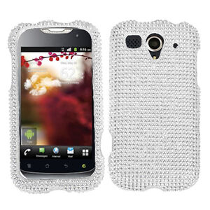 For-T-Mobile-Huawei-myTouch-U8680-Crystal-BLING-Case-Phone-Cover-Silver