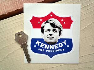 bobby kennedy for president car bumper shield sticker 1960. Black Bedroom Furniture Sets. Home Design Ideas