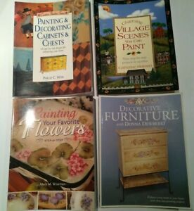 Lot-of-4-Decorative-Painting-books-by-Donna-Dewberry-Catherine-Holman-wiserman