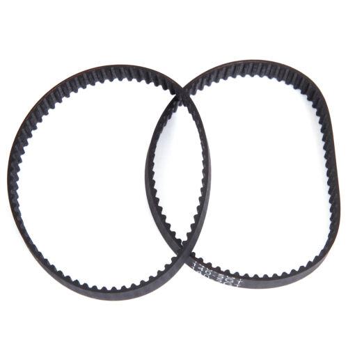 2x Rubber Closed Loop Timing Belt For CNC 3D Printing 61-762 Teeth Black