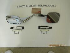 1970 - 1972 Chevelle M Carlo Chrome Outside Door Side Mirror + Hardware - Pair