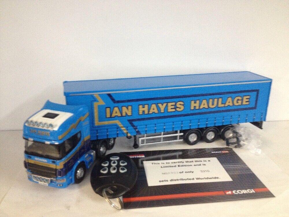 ventas de salida Corgi Scania Topline Curtainside Ian Hayes Hayes Hayes edición limitada de transporte Luz Sonido  distribución global