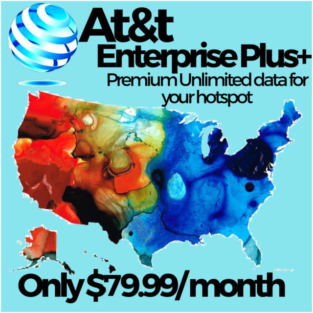 4G LTE ATT Unlimited HOTSPOT Data SIM CARD $50 per month