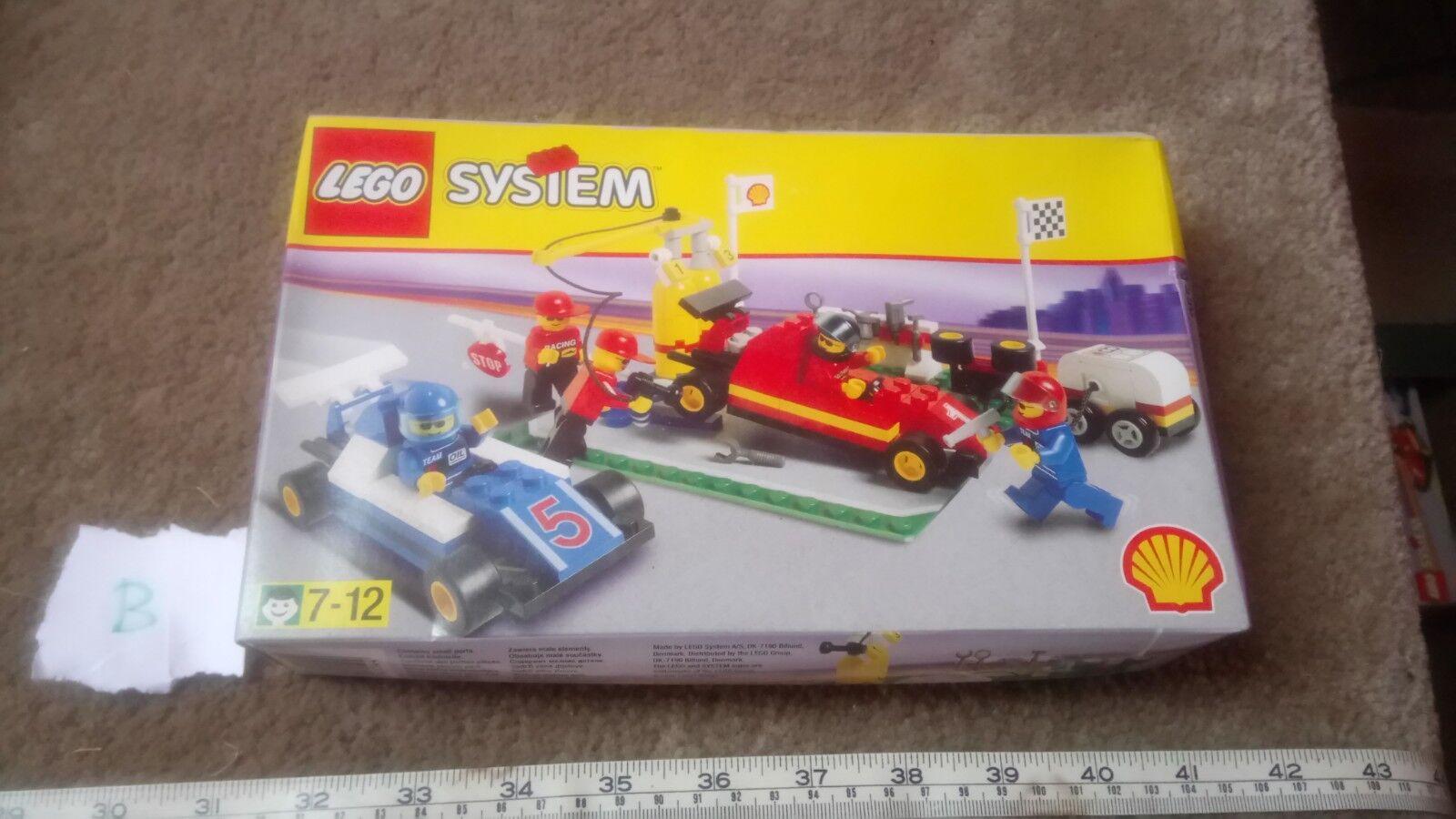 SHELL LEGO SET 2554 FORMULA 1 PIT STOP NOS SEALED RARE VINTAGE GIFT  B DAMAGED