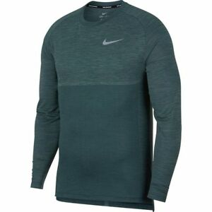9675cc62 Details about Nike Dri-Fit Knit Medalist Long Sleeve Running Shirt Jungle Clay  Green Small