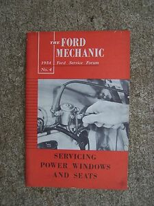 1954 ford service forum mechanic manual servicing power windows and rh ebay com Ford Truck Owners Manual Ford Motor Company Owners Manuals
