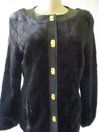 Faux Nwt Læder Basso Black Fur Xs Langærmet Frakke Dennis Størrelse OqS1nAx