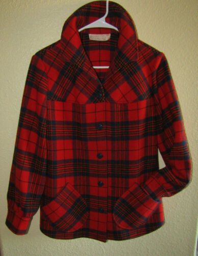 Vintage Womens Pendleton Virgin Wool Flannel Plaid