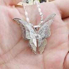Elegante Collar Cadena Colgante Hueco Mariposa Colgante Joyería Mujeres Regalo