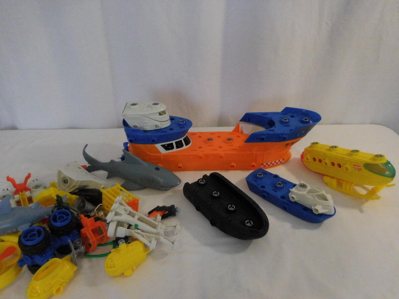 Matchbox Rig Shark Ship Mega Rig Matchbox Rolls Floats in water Build your own Adventure 45002c
