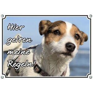 Bouclier de chien - Bouclier métallique résistant aux rayons UV en acier inoxydable Parson Russel Terrier