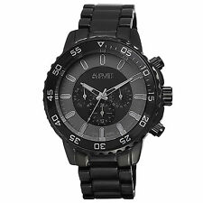 Men's August Steiner AS8101BK Swiss Multifunction All Black Bracelet Watch