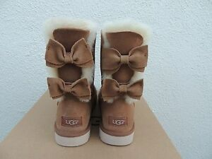 About Suede BootsUs 6 Details Eur ~nib Meilani Bow 37 Ugg Chestnut Bailey Sheepskin UpSzMqV