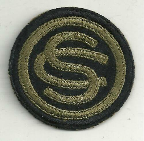 WWII US Army OCS Patch Officers Candidate School Original OD on Black