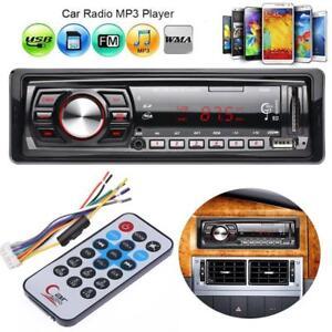 Auto-Radio-Audio-Stereo-Aux-FM-Empfaenger-MP3-USB-SD-Spieler-mit-Fernbedienung