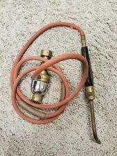 Vintage Uniweld Universal Welding Torch Head Amp Gas Regulator 70 Hose